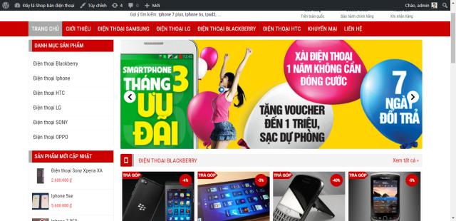Share Code Website Bán Hàng Điện Thoại Làm Bằng WordPress Đẹp – Chuẩn SEO